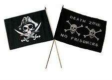 "12x18 12""x18"" Wholesale Combo Pirate Deadman's & Death Zone Stick Flag"