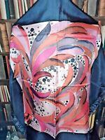BITTNER 1992 HAND CRAFTED VINTAGE Square Head/Neck Scarf Silk TYE DYE FESTIVAL.