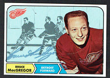 Bruce MacGregor #30 signed autograph auto 1968 Topps Hockey Trading Card