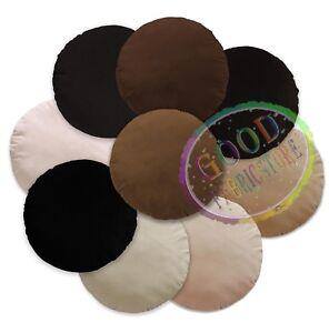 Mf Black Brown Cream Sand Microfiber Velvet Round Cover/Pillow Case Custom Size