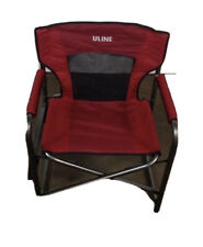 Folding Director's Camping Chair with Side Table, Red (S-20400 Uline) New In Box