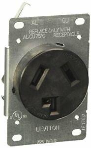 Leviton 5207-S10 30 Amp, 125/250 Volt, NEMA 10-30R, 3P, 3W, Flush Mtg Receptacle