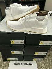 adidas NMD R1 Mens D96635 Cloud White Gum Boost Knit Running Shoes Size 9.5