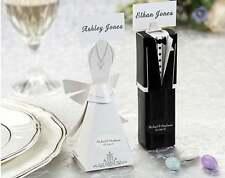 5 White Bride Dress + 5 Black Groom Tux Wedding Bomboniere Kate Aspen Gift Box