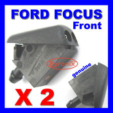 FORD FOCUS MK2 & C-MAX FRONT WINDSCREEN WASHER JETS X 2 SPRAY NOZZLE GENUINE