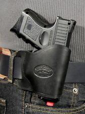 Barsony Black Leather Yaqui Holster Taurus 24/7 Compact