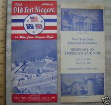 1950's Ny Brochures- Ft. Niagra; Ny Hist. Association