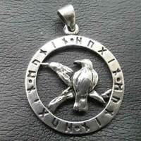 Raben Odins Wikinger Anhänger 925er Silber Symbol Schmuck - NEU