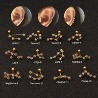 Surgical Ear Piercing CZ Constellation Crystal Earring Cartilage Helix Tragus