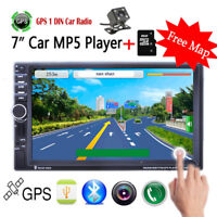 "MP5 Player Bluetooth GPS 7"" HD 2DIN Car Radio Stereo  Touch TF/AUX/FM/USB Remote"