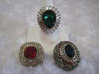 """HEIDI DAUS """"Enchante"""" (Red) Magnetic Pendant (Size 11) Ring Set (HSN-$159.95)"""