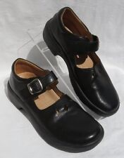 SUPREMES by SOFTSPOTS Black Leather Buckle Mary Jane Comfort Shoes US 8 Narrow