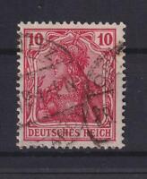 DR 86 II f Germania 10 Pfg. gestempelt gute Farbe dunkelrosarot geprüft (et65)