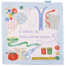 """""""A Stitch In Time Saves Nine"""" 16 inch Cushion Cover"""