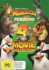 Penguins Of Madagascar / Madagascar / Madagascar- Escape 2 Africa / Madagascar 3 - Europe's Most Wanted (DVD, 2015, 4-Disc Set)