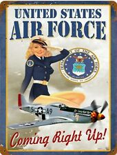 Air Force Vintage Recruiting Military USA United States Airforce Metal Sign 9x12