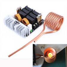 1000W ZVS Low Voltage Induction Heating Board Module Flyback Heater + Brass Coil