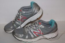 New Balance 450v2 Running Shoes, #W450SL2, Silver/Salmon/Blue, Womens US 9.5