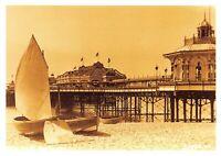 Vintage Reproduction Postcard c1900s West Pier, Brighton, East Sussex 10Q