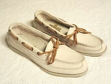 Sebago Campsides Women's Cream White Size 7.5 N