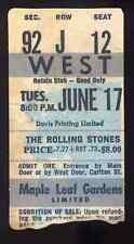 ROLLING STONES REPRO 1975 MAPLE LEAF GARDENS TORONTO CONCERT TICKET . NOT CD DVD
