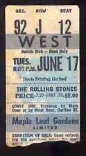 ROLLING STONES REPRO 1975 MAPLE LEAF GARDENS TORONTO CONCERT TICKET . NOT CD DVD