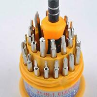 31 In 1 Magnetic Mini Screwdriver Bit Set Precision Kit Tools Tool Torx Hex A9G4