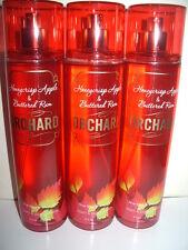 Lot of 3 Bath & Body Works Fragrance Mist 8 oz. each ORCHARD Honeycrisp Apple