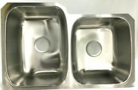 Kohler Sterling Kitchen Sink Offset Double Undermount Stainless Steel, 31.5x20.5