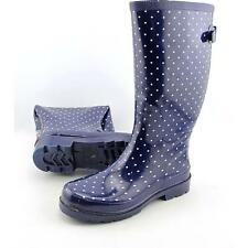 Chooka Micro Classic Dot Women US 7 Blue Rain Boot Pre Owned  1816