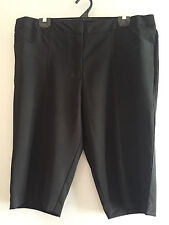 BNWOT Ladies Sz 26 Moda Brand Smart Black Tailored Dressy Style Stretch Shorts
