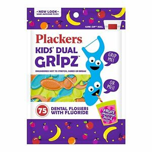 Plackers Kids 1st Floss Picks - Berry (75 ct - Pack of 4)