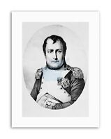 DRAW NAPOLEON BONAPARTE FRENCH EMPEROR HERO FRANCE Portrait Canvas art Prints