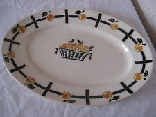 Plat ovale en céramique Badonviller