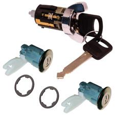 Ford Ignition Key Switch Lock Cylinder & Door Pair Chrome Tumbler Set 2 Keys