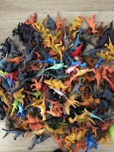 DINOSAURS BUNDLE 20 Mixed Small Dinosaur Toys / Cake Toppers VGC