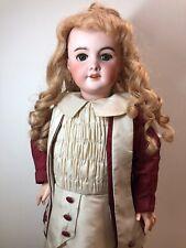 "23.5"" Antique French SFBJ 301 Bisque Head Beautiful Paris Doll HH Wig Blonde SC5"