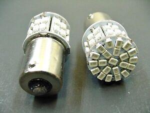 2x 1156 GMC Olds Pontiac Amber 12V Interior Courtesy Floor Trunk LED Light Bulb