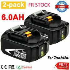 2X 18 V 6.0Ah pour Makita BL1860B batterie LXT BL1850 BL1840 BL1830 194205-3