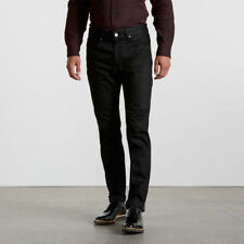 Levis Made & Crafted Black Red Line Tack SLIM cimosa Rigido Jeans W36 L35