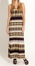 Karen Kane 2L29119 Gold-Multi Reflection Print Stretch Maxi Dress, M - $128