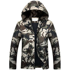 Men's Camo Waterproof  Skin Soft Shell Outdoors Jacket Hooded Quick drying coat