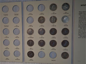 nice starter set of  15 Standing liberty Quarters with a few semi key dates