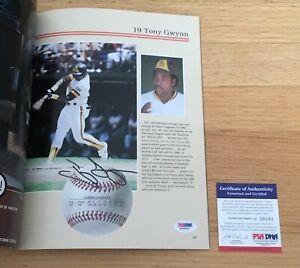 Tony Gwynn San Diego Padres MLB HOF Signed Autograph 1985 Yearbook PSA DNA COA