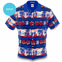 Western Bulldogs AFL 2020 Hawaiian Button Up Polo T Shirt Sizes S-5XL