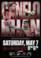 SAUL 'CANELO' ALVAREZ vs. AMIR KHAN: Original Full-Size HBO Boxing Fight Poster