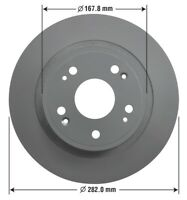 Disc Brake Rotor-Fully Coated Premium Brake Rotor Rear  (OE 42510-SFY-000)