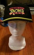 90's Vintage  Diamond Back Racing Team Strap Back Black Cap Hat