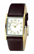 Rechteckige Armbanduhren aus echtem Leder mit Uhrengehäuse Größe 24-27,5mm