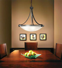 Art Deco Pendant Light CALAIS Black frame 500mm diameter 3 light  RRP $199